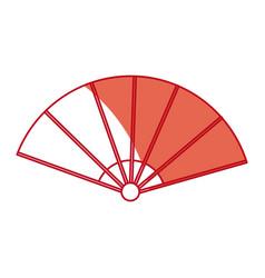 Fan folding japan accessory air asian vector