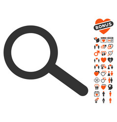 find icon with lovely bonus vector image vector image
