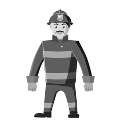 Firefighter icon gray monochrome style vector image vector image