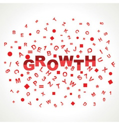 Growth word with in alphabets vector image vector image