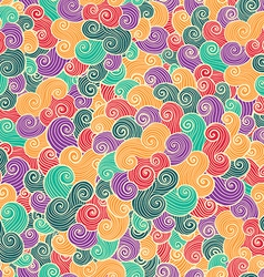 Hand drawn ornamental background vector image