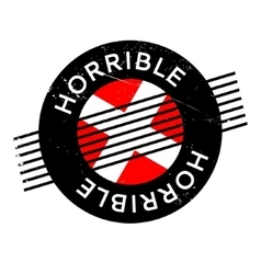 Horrible rubber stamp vector