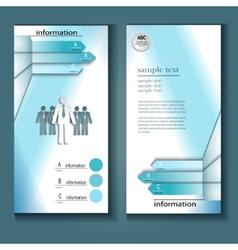 Information flyer vector