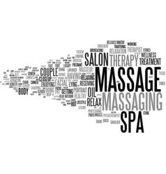 Massaging word cloud concept vector