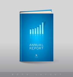 Modern abstract brochure as book busines theme vector