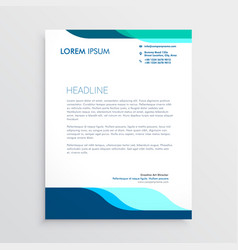 modern letterhead design with clean blue shapes vector image
