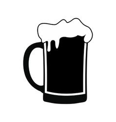 Mug of beer black simple icon vector