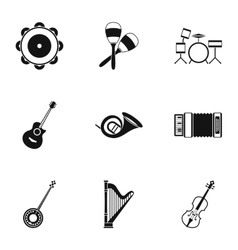 Musical device icons set simple style vector image vector image