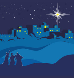 Nativity of jesus christ vector