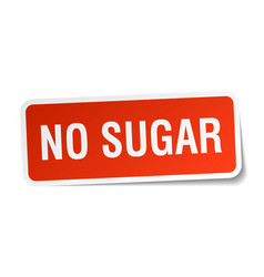 No sugar square sticker on white vector