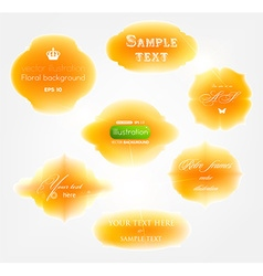 Orange sticker set vector