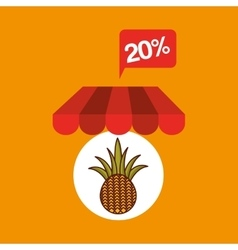 Pineapple discount shop online icon vector