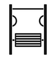 Playground simulator icon simple style vector