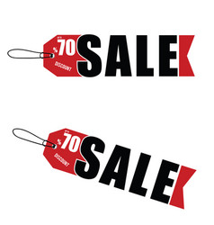 sale discount tag design vector image vector image