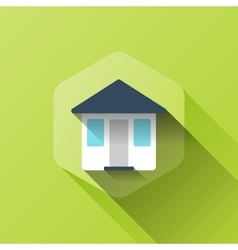 Simple of house icon in flat style vector