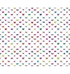 Sketch hearts net vector image vector image