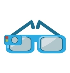 Smart glasses wearable device vector