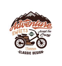 Vintage wanderlust hand drawn label design vector