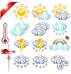 Weather icons small vector image