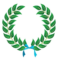 Winner laurel wreath vector