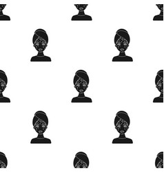 Woman with acne icon in black style isolated on vector