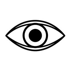 eye isolated icon design vector image