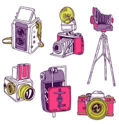 Set of Photo Cameras vector image