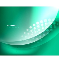 Blue-green smooth wave template vector