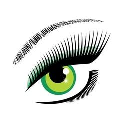 eye green vector image