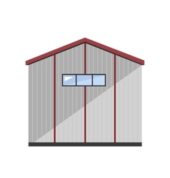 Warehouse exterior vector