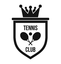 Coat of arms of tennis club icon simple style vector