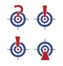 Target with marks and arrows vector