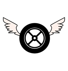 Tire service isolated icon vector