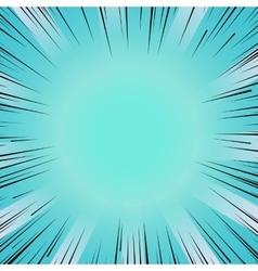 Manga comic book flash blue explosion radial lines vector