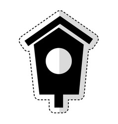House wooden bird icon vector