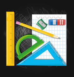 Accesories school tools to study education vector