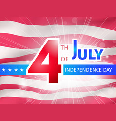 4th of july us independence day poster vector