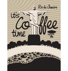 Coffee rio de janeiro vector