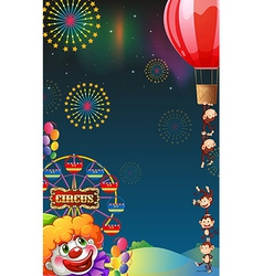A circus show at the carnival vector