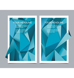 Banners with abstract geometrical background vector