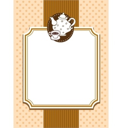 Ornate menu cover vector image