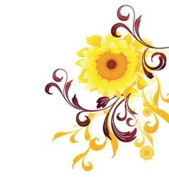 Sun flower graphic vector