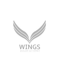 Wings logo icon vector image