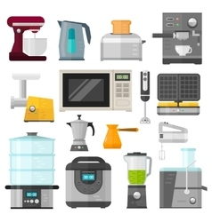 Home electronics appliances elements infographics vector