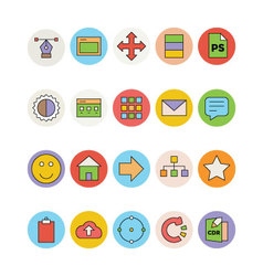 Design and development icons 3 vector