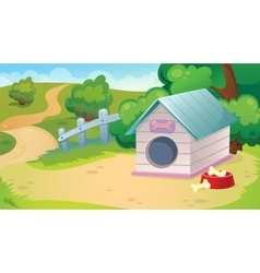 Background Of Dog Booth vector image vector image