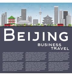 Beijing skyline with gray buildings vector
