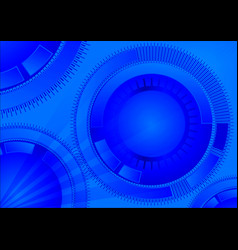 Blue geometric technology background with circle vector