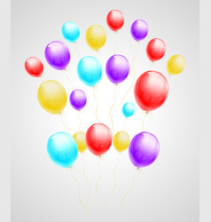 bundle of flying multicolored balloons vector image vector image