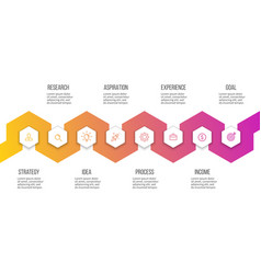 business infographics presentation with 8 steps vector image vector image